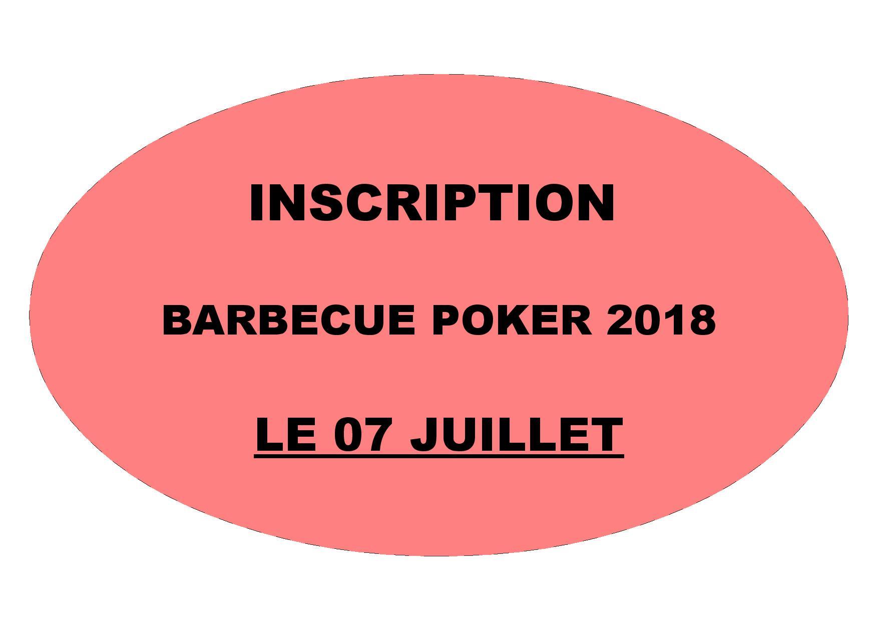 Inscription barbecue poker 07 juillet 2018