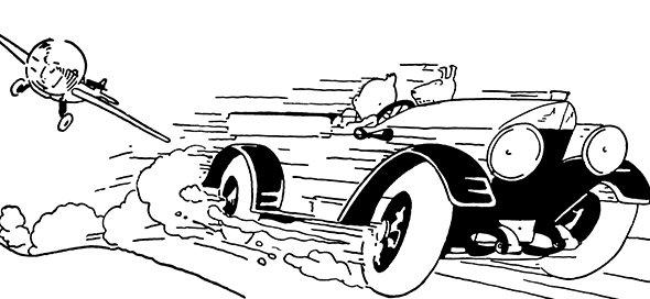Tintin demarrage voiture